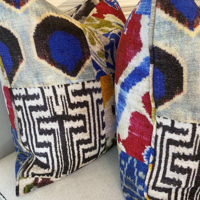 """2010s """"Haute Bohemian"""" in Red 22"""" Pillows-A Pair For Sale - Image 5 of 10"""