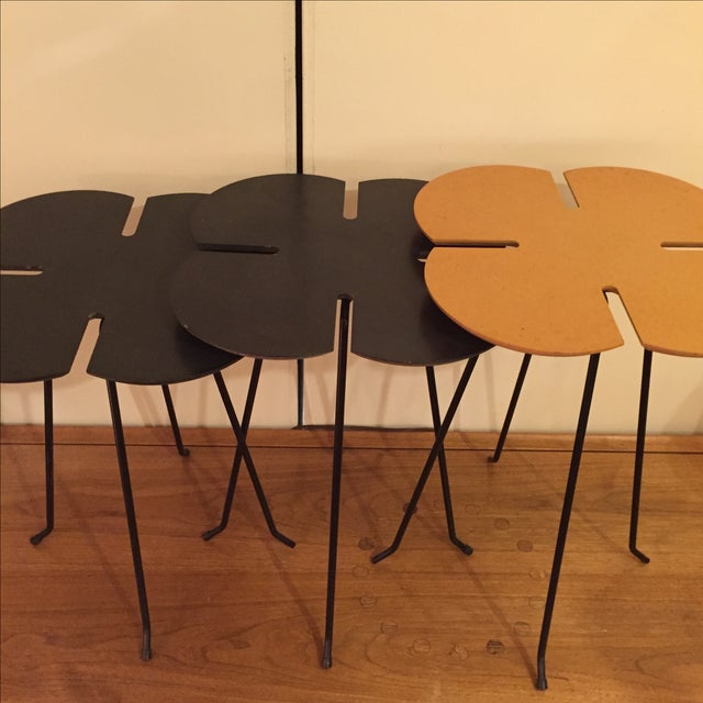 Vintage Clover Leaf Nesting Tables - Set of 3 - Image 3 of 11
