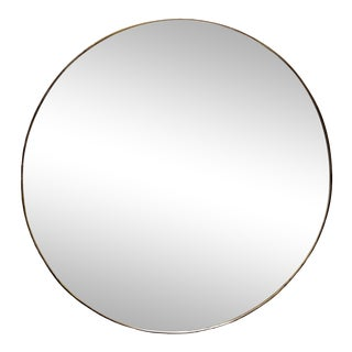 Mid-Century Italian Brass Framed Mirror For Sale