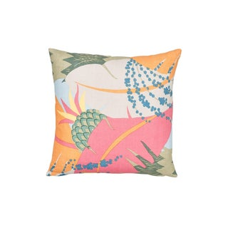 Schumacher Ananas Pillow in Tropical For Sale