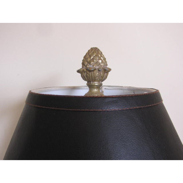 Vintage Tole Urn Lamp With Swan Handles - Image 3 of 10