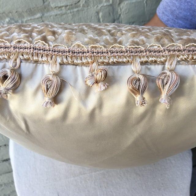 Cream Cut Silk Velvet Pillows - Pair - Image 6 of 6