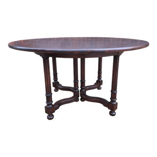 1980s Rustic Baker Milling Road Dining Room Table For Sale