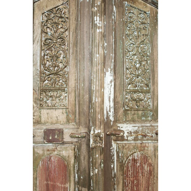 Gothic Old Jodhpur Carved Entrance Doors For Sale - Image 3 of 8