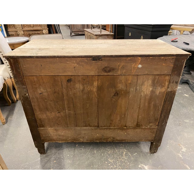 1850s French Empire Bleached Commode For Sale - Image 9 of 10