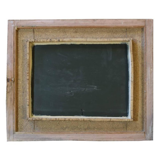 Italian Mid-Century Cork Frame with Mirror - Image 2 of 4