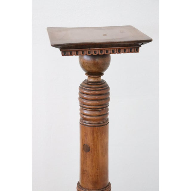 Early 19th Century 19th Century Italian Antique Column in Turned Walnut For Sale - Image 5 of 8