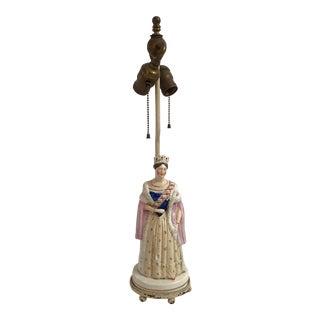 Staffordshire Queen Victoria Lamp
