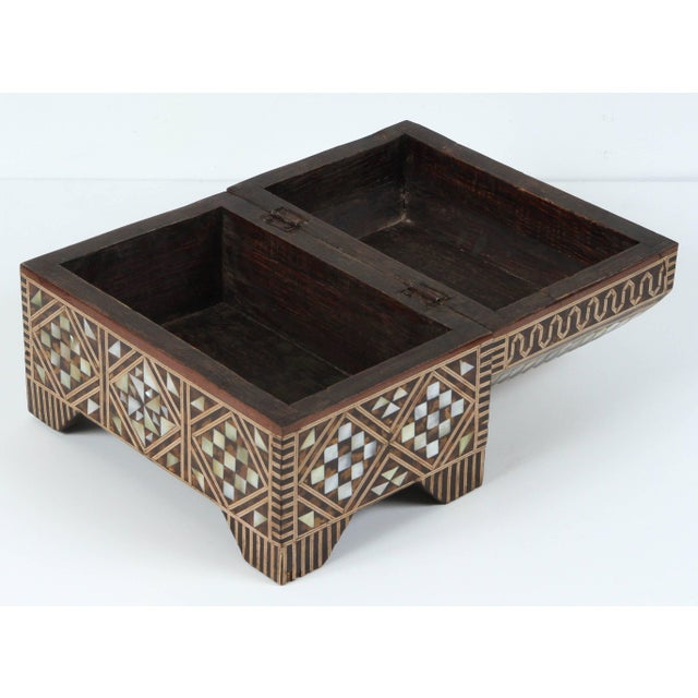 Handcrafted Moorish jewelry wedding box. Middle Eastern wedding gift from parent to the bride, this rectangular form...