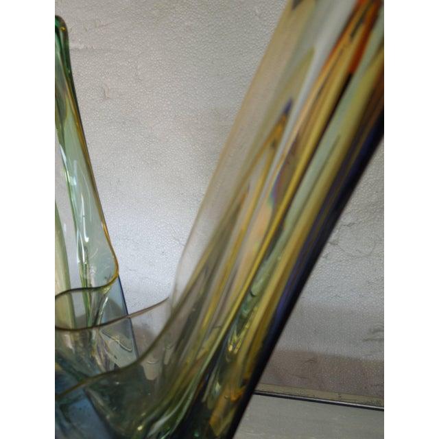 Glass Multi-Color Modern Art Polish Crystal Glass Sculpture For Sale - Image 7 of 8