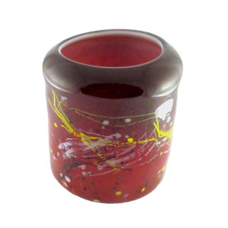 Hand Blown Viz Abstract Art Glass Lantern For Sale