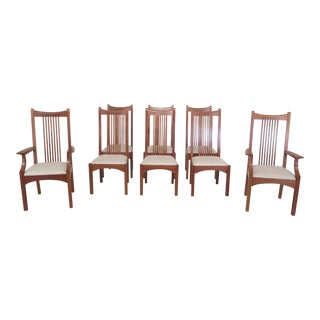 Stickley 21st Century Collection Cherry Dining Room Chairs- Set of 8 For Sale