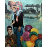 Image of Modern Contemporary Balloons Oil Painting For Sale