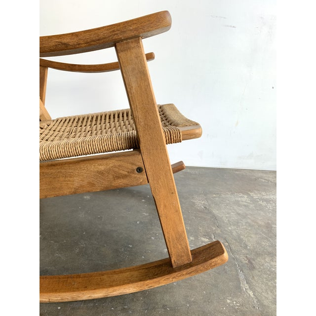 Mid Century Rope Rocking Chair For Sale - Image 12 of 13