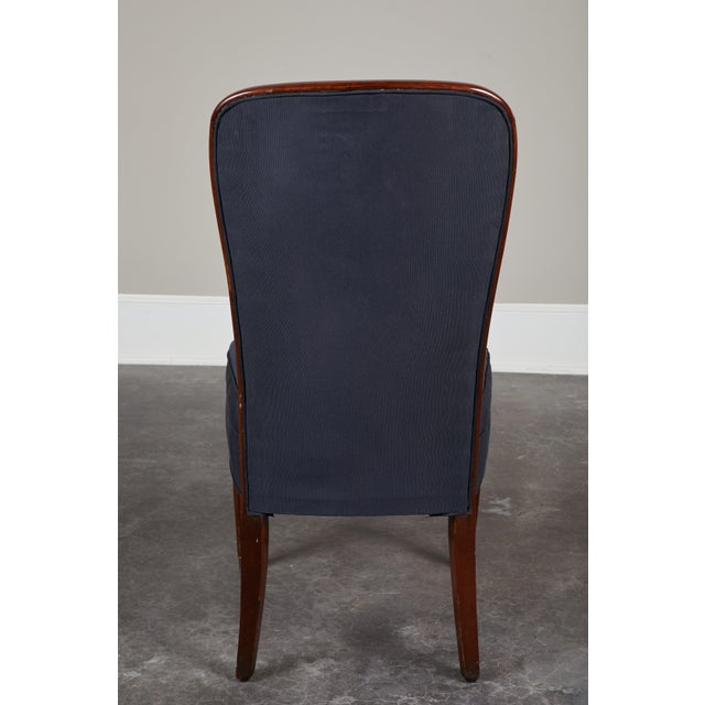 Set of 8 French Art Deco Rosewood Chairs For Sale - Image 4 of 8