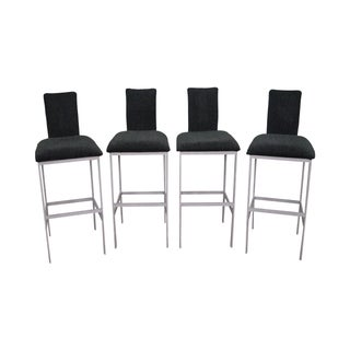 Minson Mid Century Modern Metal Bar Stools -- Set of 4 For Sale