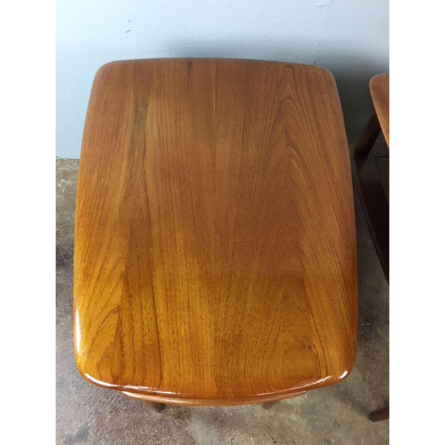 1960s Peter Hvidt MCM Solid Teak End Table - A Pair For Sale - Image 5 of 9