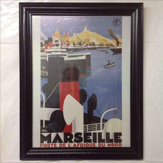 Marseille Porte De L'Afrique Du Nord Framed Poster. Original design by Roger Broders and published Lucien Serre & C. Imp...