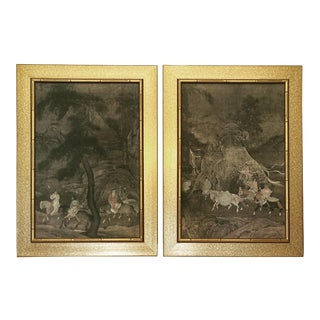 Mid Century Chinoiserie Prints - a Pair, Framed For Sale