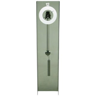 Smoked Acrylic Standing Clock by Design Group For Sale