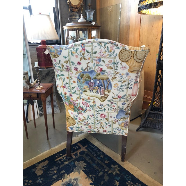 Early 19th Century Antique William IV English Wingback Armchair For Sale - Image 4 of 10
