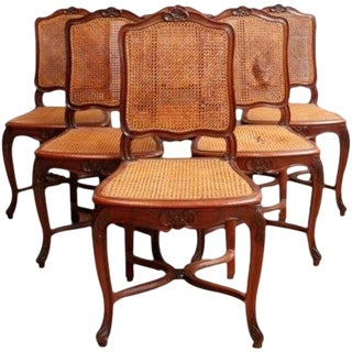 1930 Vintage Rococo Dining Chairs Louis XV - Set of 6 For Sale
