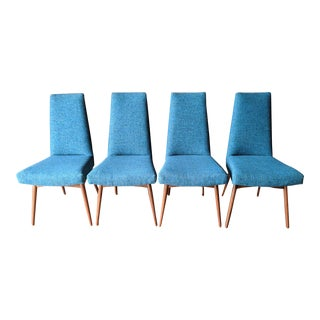 Adrian Pearsall Mid Century Dining Chairs Refinished and Reupholstered. Set of 4