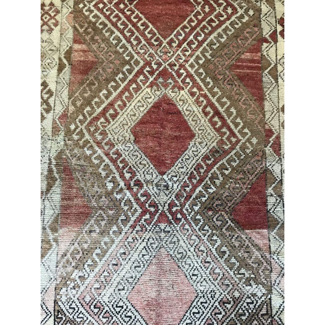 Traditional Bellwether Rugs Oushak Red & Earth Tone Patina Rug - 4′1″ × 7′5″ For Sale - Image 3 of 7