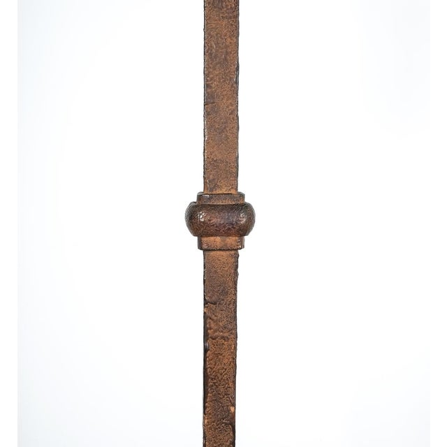 Jean Touret for Atelier Marolles Wrought Iron Floor Lamp, France, Circa 1955 For Sale - Image 6 of 8