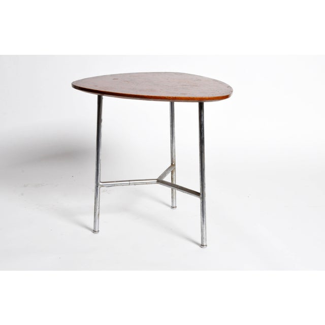 1930s Hungarian Table with Metal Legs For Sale - Image 5 of 11