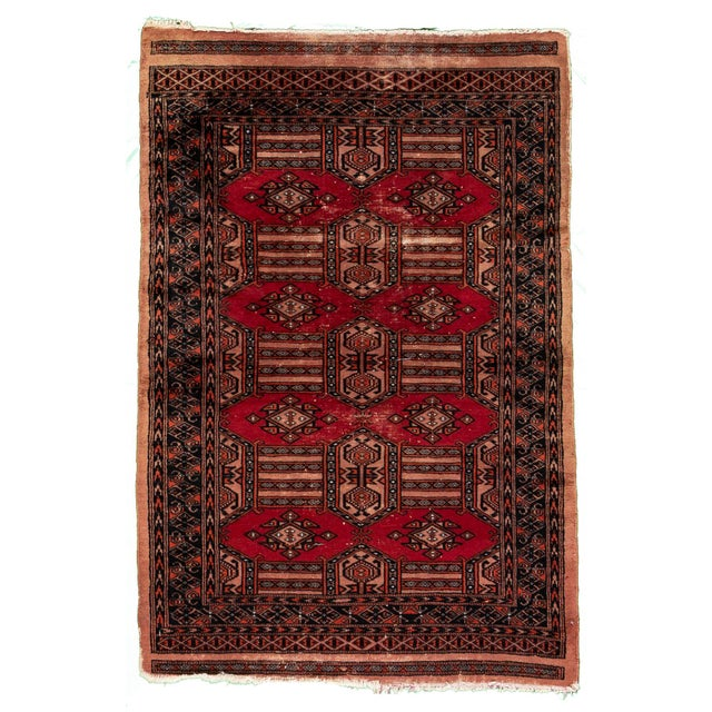 """Red Vintage Persian Rug, 3'02"""" X 4'10"""" For Sale - Image 8 of 8"""