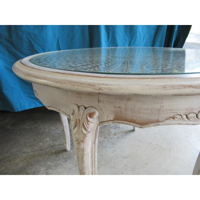 Louis XV 20th Century Louis XV Distressed Painted Occasional Table For Sale - Image 3 of 5