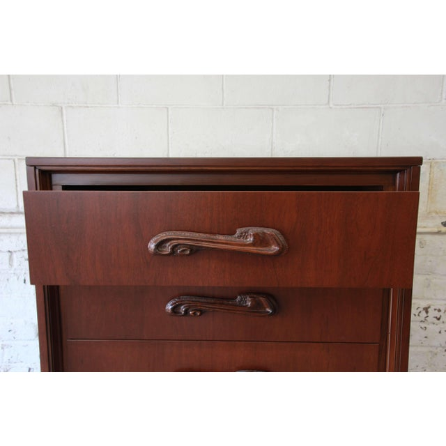 Mid-Century Sculptural Highboy Dresser in the Style of Philip Lloyd Powell For Sale In South Bend - Image 6 of 11