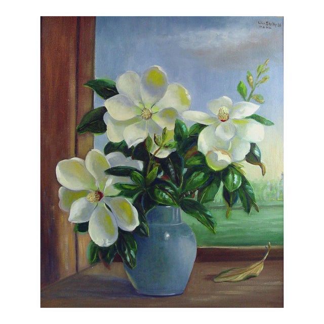 Magnolia Still Life Painting by Lila Shelby For Sale