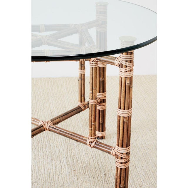 McGuire McGuire Organic Modern Bamboo Rattan Dining Table For Sale - Image 4 of 13