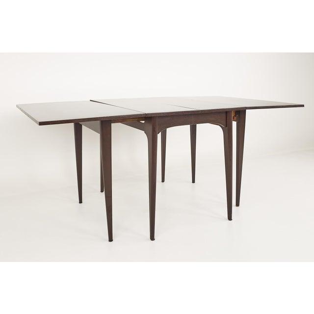 Kroehler Kroehler Refinished Mid Century Drop Leaf Dining Table For Sale - Image 4 of 12