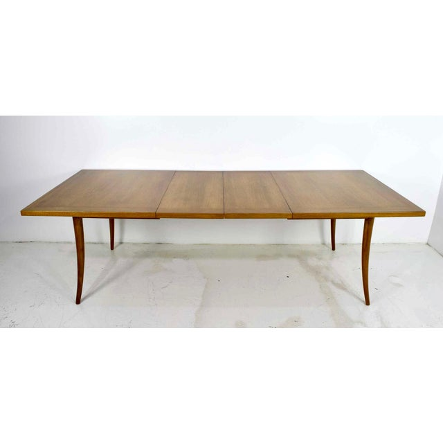 Harvey Probber Saber Leg Table in Bleached Mahogany - Image 6 of 10