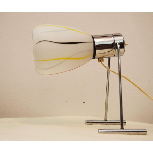 Mid-Century Opaline Glass Table Lamp, 1950s For Sale - Image 4 of 9