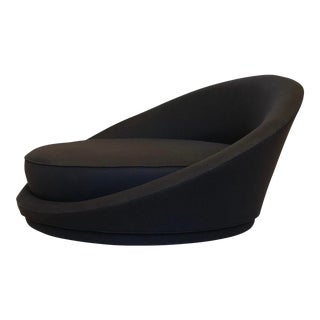 1960s Milo Baughman Large Satellite Black Chair For Sale