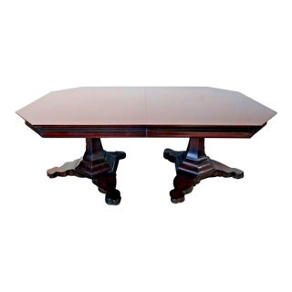 EJ Victor Transitional Double Pedestal Dining Table