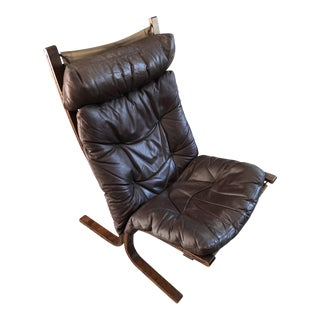 "1960s Vintage Westnofa ""Siesta"" Ingmar Relling Leather Lounge Chair For Sale"