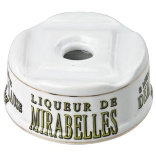 French Porcelain Mirabelles Liqueur Inkwell
