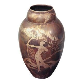 Art Deco Dinanderie Vase by Mergier For Sale