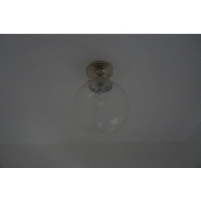 Clear Glass Globe Ceiling Light - Image 2 of 3