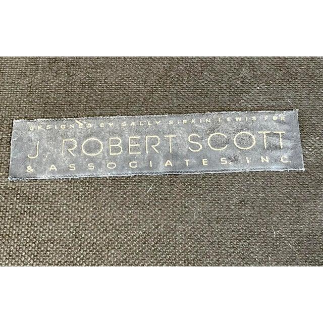 J. Robert Scott J. Robert Scott Art Deco Mahogany & Mohair Ottoman Bench For Sale - Image 4 of 5