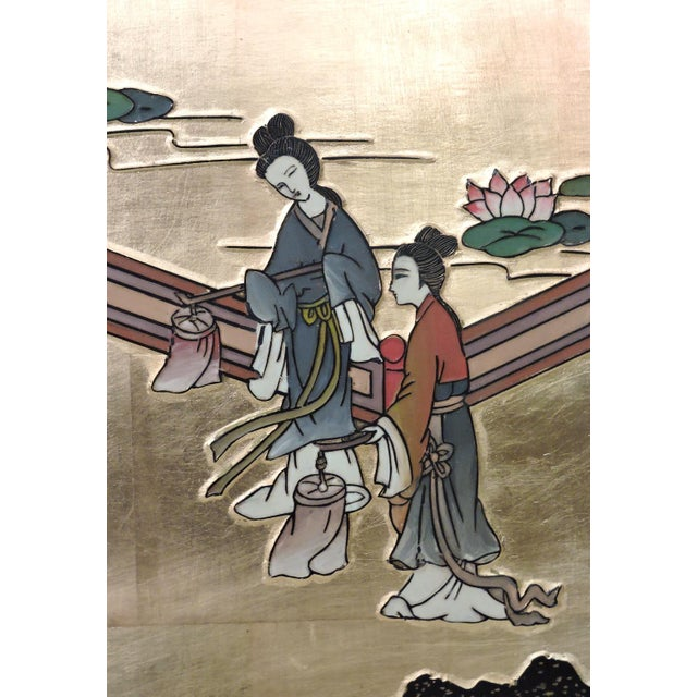 Oriental Gilt Wall Hanging, Four Panels - Image 5 of 5