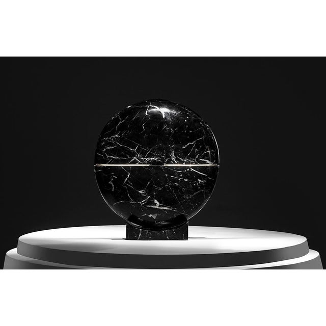 Modern Core Marble Table Lamp by Carlos Aucejo For Sale - Image 3 of 5