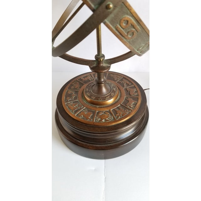 Mid Century Frederick Cooper Astrological Armillary Table Lamp For Sale In New York - Image 6 of 8
