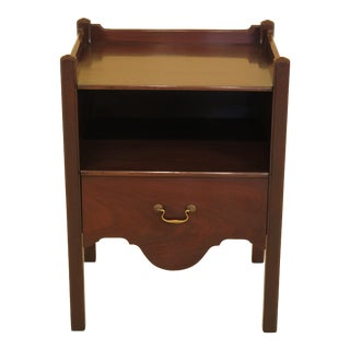 Kittinger Chippendale Mahogany Bedside Commode For Sale