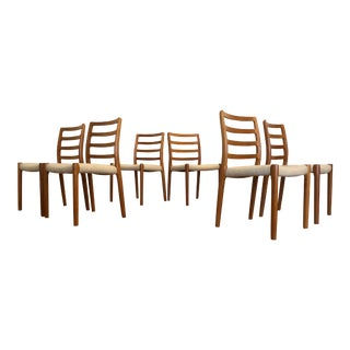 J. L. Moller Solid Teak Dining Chairs, Made in Denmark